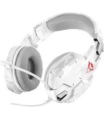 audifono gamer trust gxt 322w 3.5mm blanco camuflado