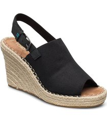black oxf sandalette med klack espadrilles svart toms