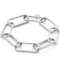 sterling silver alta capture large link charm bracelet