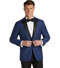 jos. a. bank men's slim fit tonal paisley formal dinner jacket - big & tall, blue, 48 long