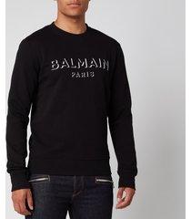 balmain men's 3d effect sweatshirt - black - xl