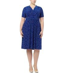 anne klein plus size dot-print dress