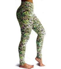 leggings deportivo tobillero estampado mujer verde tykhe mia