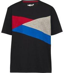 t-shirt men plus zwart::rood::royal blue