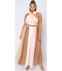 akira plus yours truly maxi halter top dress