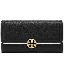 nwt tory burch duet envelope leather continental wallet