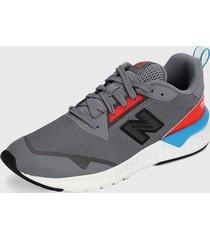 tenis lifestyle gris-rojo-blanco new balance 515 sport v2