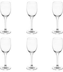 jogo 6 taças vinho rona 190ml branco
