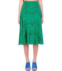 kenzo skirt in green silk