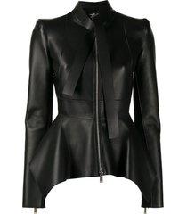 dsquared2 peplum waist jacket - black