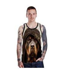 camiseta regata lucinoze dog preta