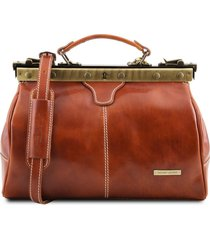 tuscany leather tl10038 michelangelo - borsa medico in pelle miele