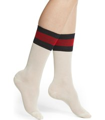 women's gucci suzanne socks, size small - white