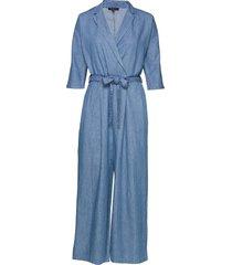 slfally-dalima 3/4 jumpsuit ex jumpsuit blauw selected femme