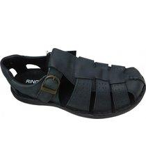 sandalia negra ringo  franciscana