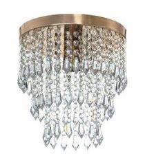 lustre de cristal acrilico manucrillic cobre maravilhoso