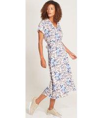vestido midi floral gris 6