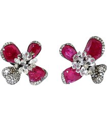 ruby orchid earrings