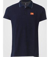 camisa polo fatal reta friso azul-marinho