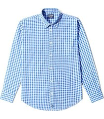 camisa wainscott a cuadros pequeños manga larga - azul