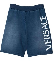 young versace faded blue shorts