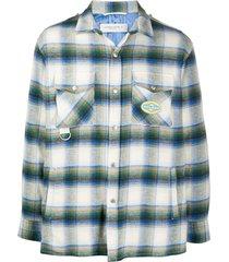golden goose check infinity shirt jacket - neutrals