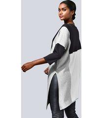 asymmetrisk tröja alba moda marinblå::grå::vit