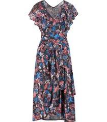 iro plisca printed viscose dress