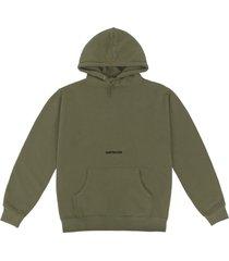 army green logo hoodie