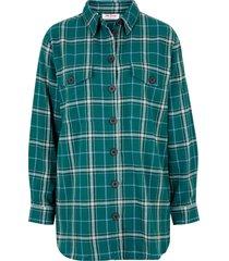 camicia in flanella calda (petrolio) - john baner jeanswear