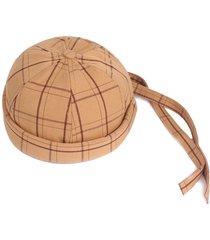 cappuccio francese braid hat da uomo regolabile in cotone retinato con retro elastico