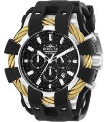 reloj invicta negro modelo 238ei para hombres, colección bolt