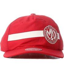 bonã© mitchell & ness aba curva snapback branded vermelho - vermelho - dafiti