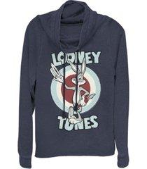 fifth sun looney tunes bugs bunny target cowl neck women's pullover fleece