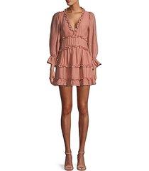 ruffled mini babydoll dress