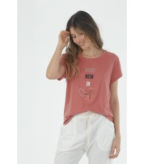 tshirt para mujer topmark, con estampado de tapabocas