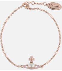 vivienne westwood women's iris bas relief bracelet - pink gold pearl pale pink