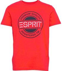 t-shirts t-shirts short-sleeved röd esprit casual