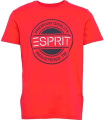 t-shirts t-shirts short-sleeved röd esprit casual