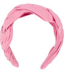 redvalentino red(v) twisted headband - pink
