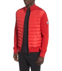 men's canada goose hybridge 675 fill power down jacket, size large - red