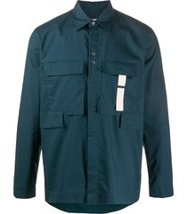 craig green cargo style shirt - blue
