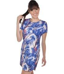 vestido banca fashion curto casual chique azul