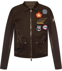 logo-patched jacket