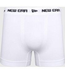 cueca new era boxer branded branca - kanui