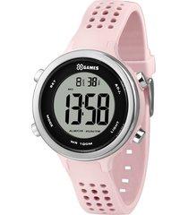 relógio digital x games feminino - xfppd069 rosa claro