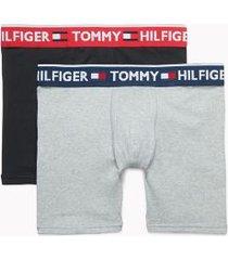 tommy hilfiger men's bold cotton boxer brief 2pk black/grey - m