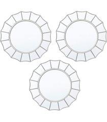 conjunto 3 espelhos royal de parede incolor