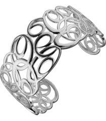 prime art & jewel sterling silver swirl design cuff bracelet