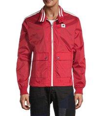 graphic full-zip jacket